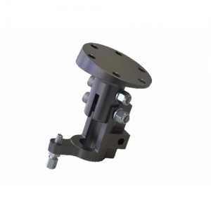 END-PIECE STEERING COLUMN KZ2, 15° INCLINATION, ALU, TITAN