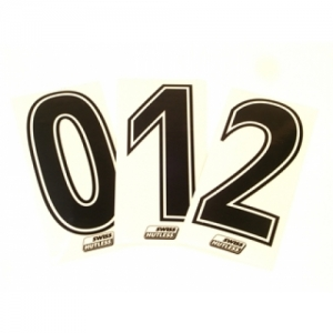 START NUMBER STICKER BLACK DOUBLE EDGE