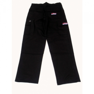 """SH"" PANTS LONG W/SIDE POCKET BLACK"