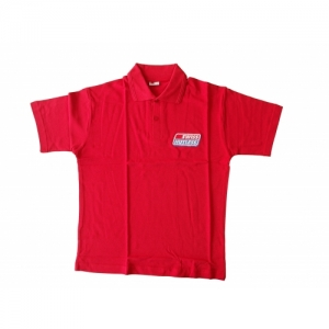 POLO-SHIRT SHORT SLEEVE, RED, SIZE S