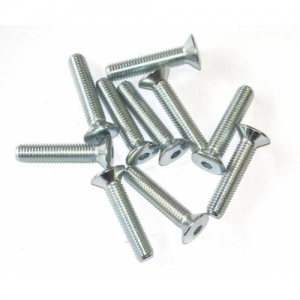SEAT SCREW (OVAL, COUNTERSUNK HEAD), M8X40MM, SILVER, SET 10PCS.