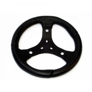 STEERING WHEEL STEEL, BLACK, 300MM