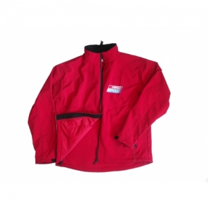 VESTE SWISS HUTLESS, SOFT-SHELL, ROUGE, GR. XS