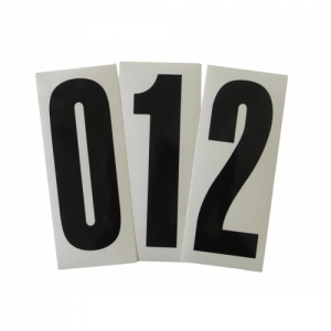 START NUMBER STICKER BLACK