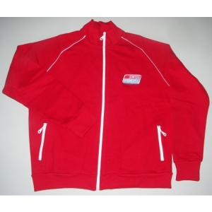 "SWEAT BLOUSON ""SH"" ROUGE, ENFANTS 10 AN"