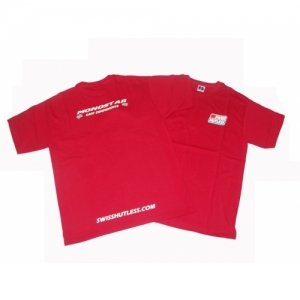 SHIRT SWISS HUTLESS / MONOSTAR, RED, L
