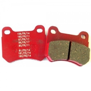 SET BRAKE LININGS ''PA-RACE'', REAR, SOFT