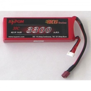 BATTERY LIPO 14,8V, 3300MAH, 4 BATTERY CELLS