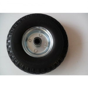 SPARE WHEEL FOR KART TROLLEY, SOLID RUBBER, STEEL, 75x260MM