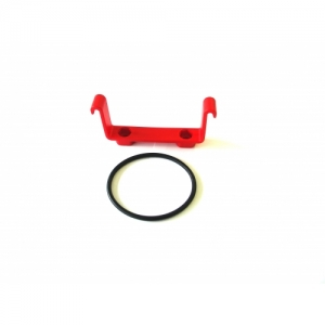 HOLDER FOR RECTANGULAR OVERFLOW CONTAINER 117.510, PLASTIC, INCL. O-RING