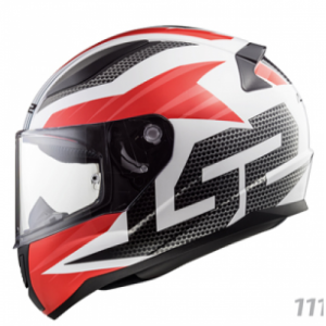 HELMET LS2 GRID BLACK/RED/WHITE