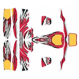 "STICKER SET ""STARTEC"", RED/WHITE/BLACK (506)"
