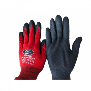 MECHANIC-GLOVES, RED/BLACK, SIZE 8/M