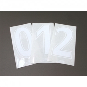START NUMBER STICKER WHITE
