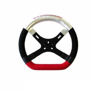 "STEERING WHEEL ""MONOSTAR LE MANS"", 330 MM, RED-BLACK-SILVER"