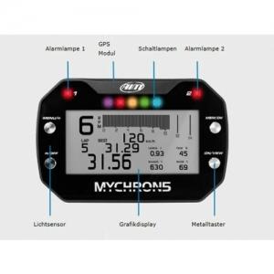 """LAPTIMER """"MYCHRON 5 GPS 2-T"""", INKL. DOPPELTEMP.KABEL, SONDE WASSERTEMP., RPM-KABEL"""
